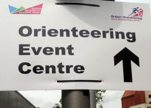 Signage to the Event Centre in the Olympic Park